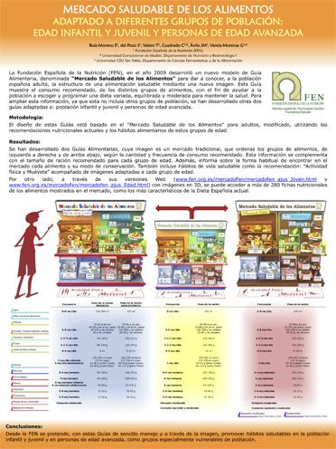 Mercado saludable de los alimentos adaptado a diferentes grupos de población: edad infantil y juvenil y personas de edad avanzada