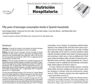 Fifty years of beverages consumption trends in Spanish households