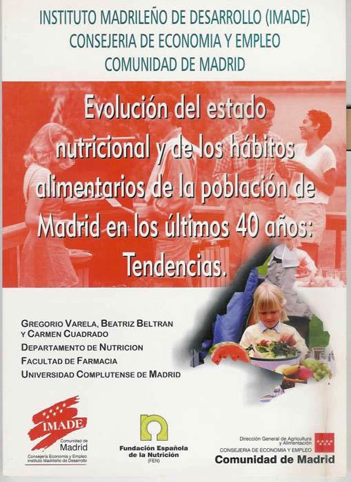 Evolución del estado nutricional y de los hábitos alimentarios de la población de Madrid en los últimos 40 años: Tendencias.