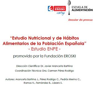 """""""Estudio Nutricional y de Hábitos Alimentarios de la Población Española"""" Estudio ENPE"""